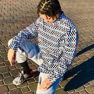 Levi's Skateboarding Men's checkered denim jacket